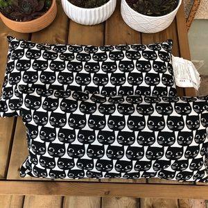 Ikea Black Cat Face Mattram Throw Pillows Cats